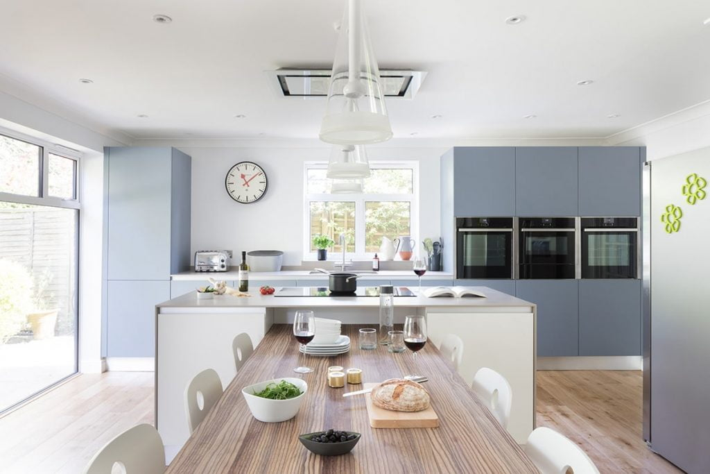 Blue Kitchen in Bushey