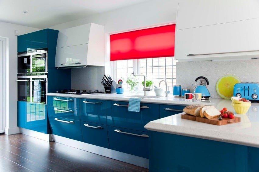 Bushey Blue Kitchen
