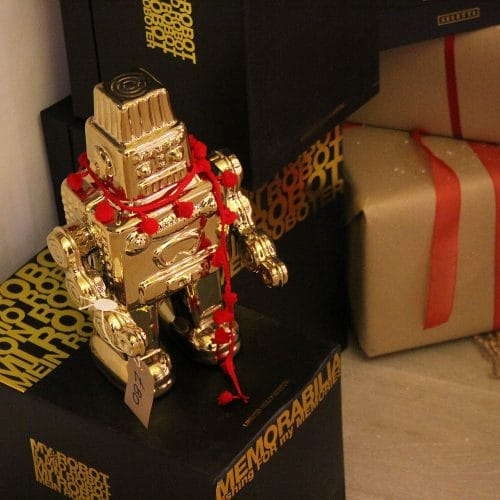 Robot in Residence under the tree 2